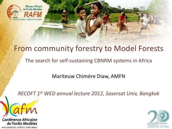 From community forestry to Model Forests    The search for self-sustaining CBNRM systems in Africa               Mariteuw ...