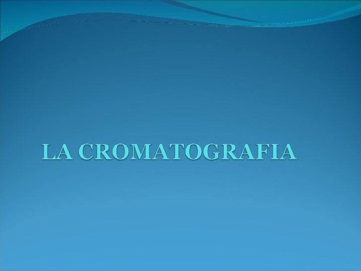  Lacromatografia è una tecnica per la separazione dei componenti di una miscela in modo da analizzarli, identificarli, pu...