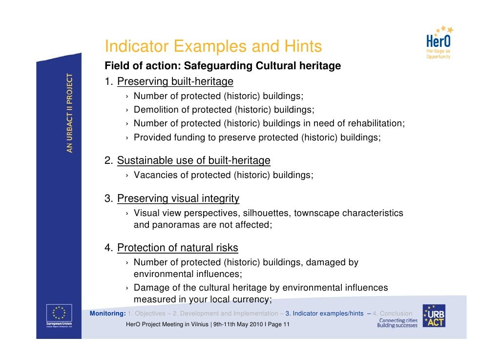 Integrated Cultural Heritage Management Plans: Monitoring (conference…