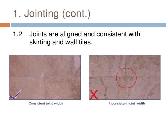 Checklist - Before / During / After marble and granite finishes