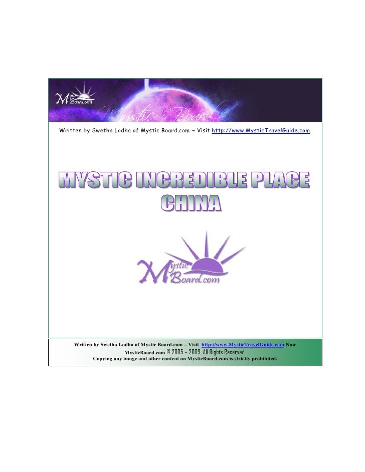 Written by Swetha Lodha of Mystic Board.com ~ Visit http://www.MysticTravelGuide.com          Written by Swetha Lodha of M...