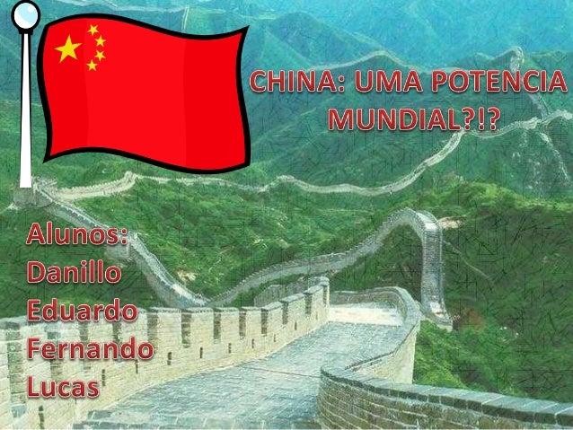 Aspectos Humanos O intenso crescimento da população chinesa vem sendo controlado desde 1979 com a política que estabeleceu...