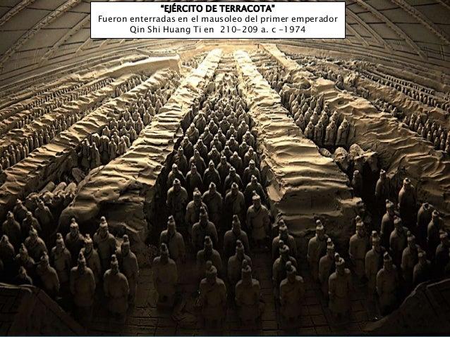 """EJÉRCITO DE TERRACOTA"" Fueron enterradas en el mausoleo del primer emperador Qin Shi Huang Ti en 210-209 a. c -1974"