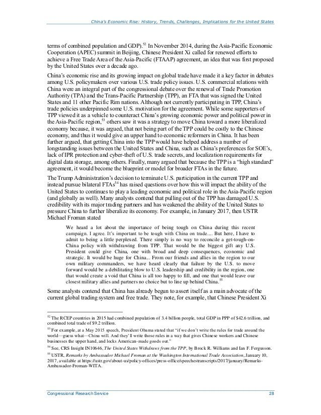 China's Economic Rise: History, Trends, Challenges, Implications for the United States Congressional Research Service 28 t...