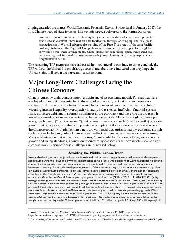 China's Economic Rise: History, Trends, Challenges, Implications for the United States Congressional Research Service 29 J...