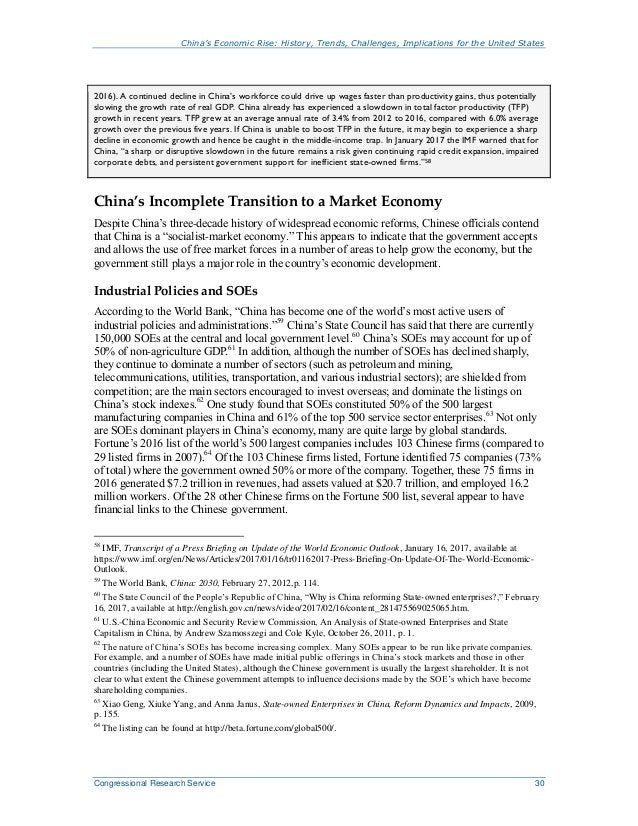 China's Economic Rise: History, Trends, Challenges, Implications for the United States Congressional Research Service 30 2...