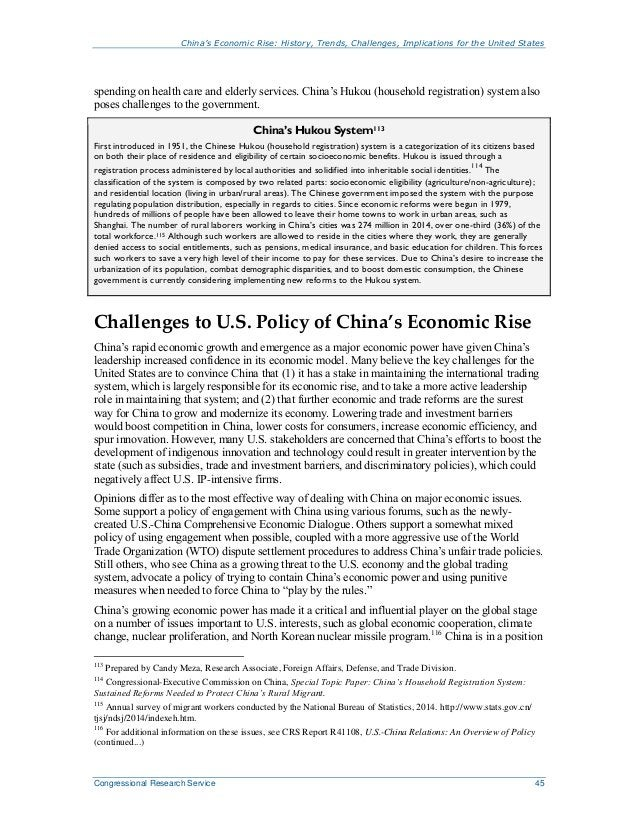 China's Economic Rise- Implications for USA