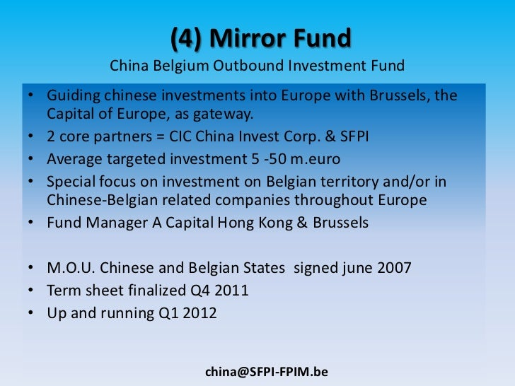 China belgium investment vehicles for Mirror of equity