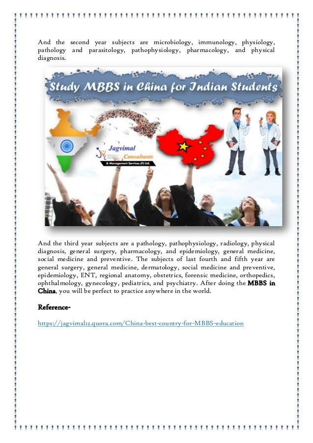 China best country for mbbs education