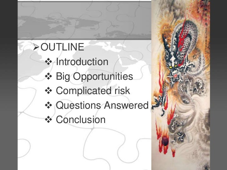 china complicated risks big opportunities Discussion 1 risks and opportunities of urbanization dr theo kotter begins his article by stating the 21st century is  china's complicated risks big opportunities.