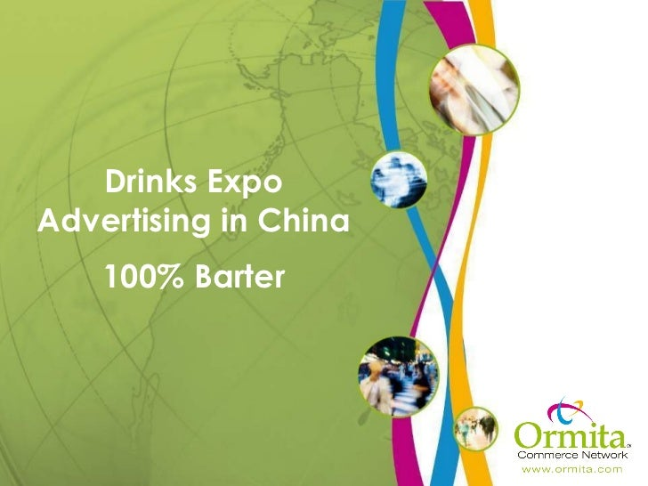 Drinks Expo Advertising in China 100% Barter