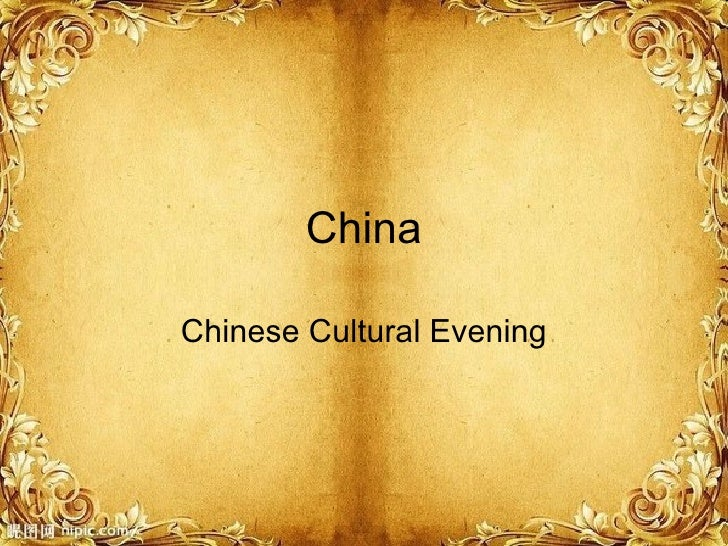 China Chinese Cultural Evening