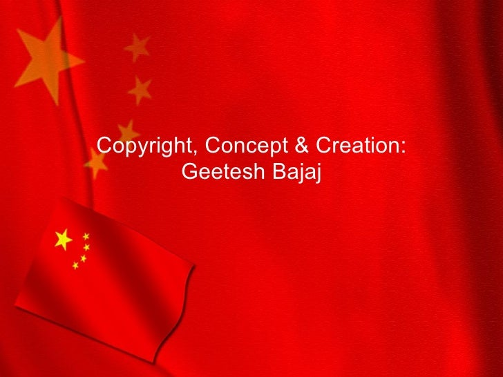 China Flag Powerpoint Presentation Ppt Template