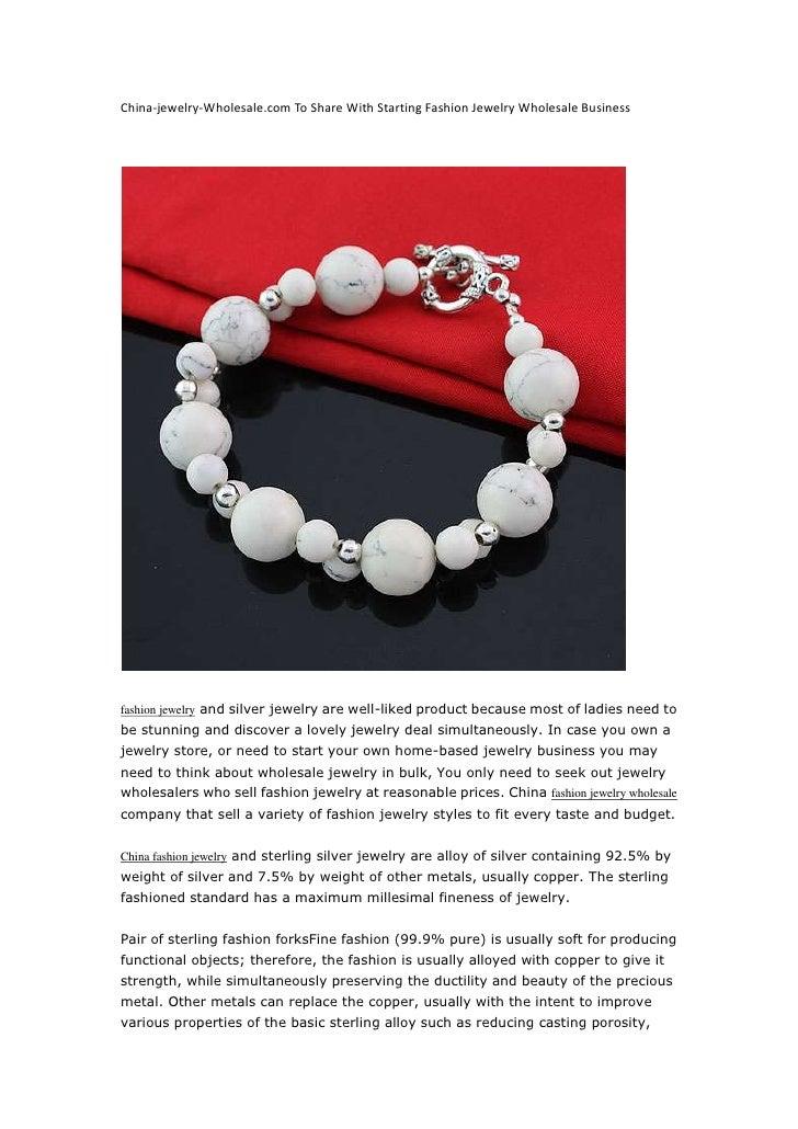 China-jewelry-Wholesale.com To Share With Starting Fashion Jewelry Wholesale Business<br />fashion jewelryand silverjewe...