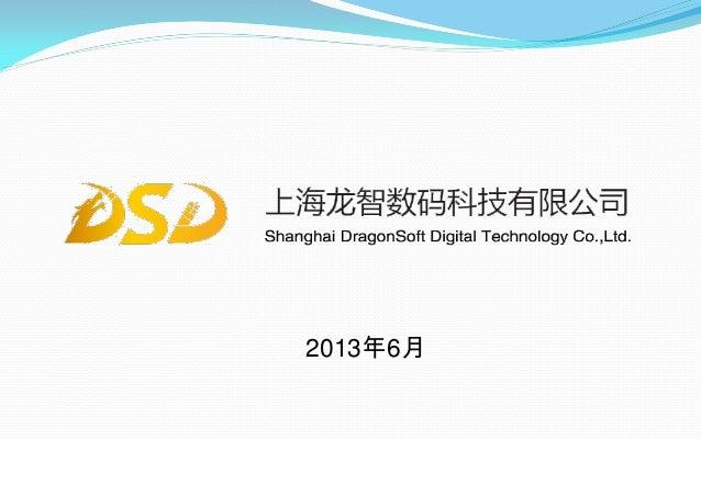 上海龙智数码科技有限公司0 2013年6月