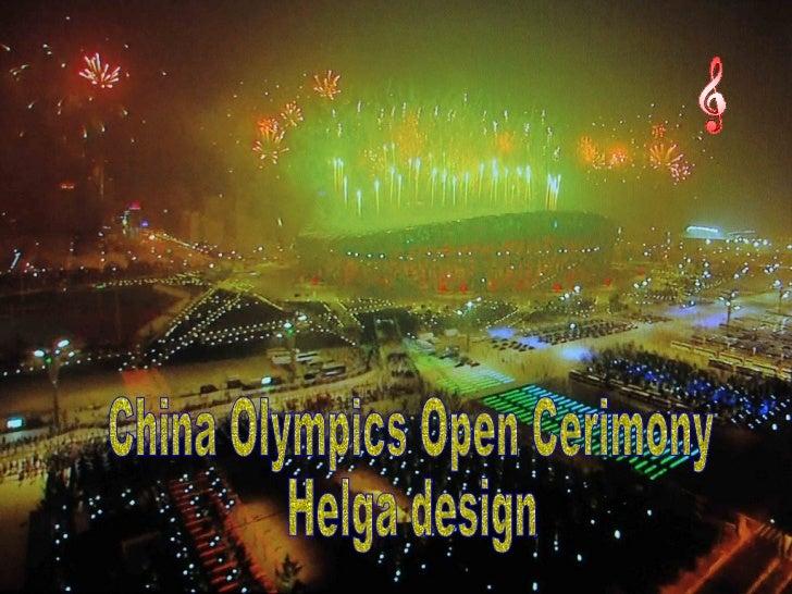 China Olympics Open Cerimony Helga design