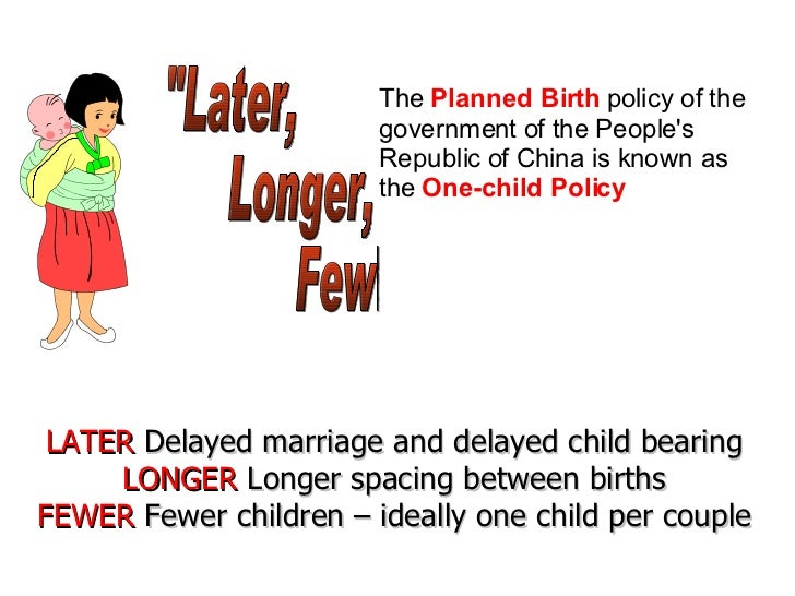 the one child policy in the peoples republic of china issues