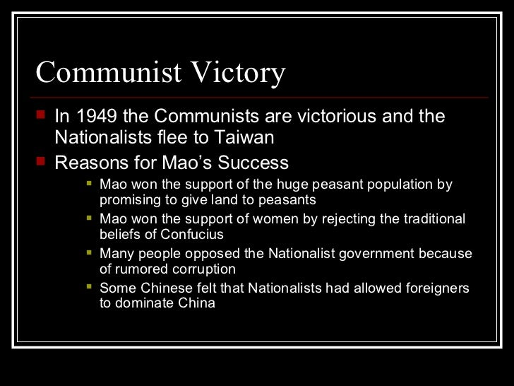 the success of mao zedong as a nationalist leader in communist china 5 days ago  how has china changed since mao zedong's death  mao was the leader of  the chinese communist party (ccp) from 1935 until his  the nationalists  collapsed, and the ccp was virtually annihilated in the cities and  it can be  traced to mao's resentment at khrushchev's failure to consult him before.