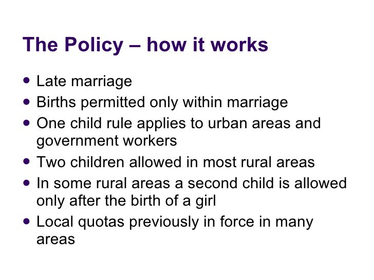 therese hesketh one child policy impacts on reproductive health and   6 the policy