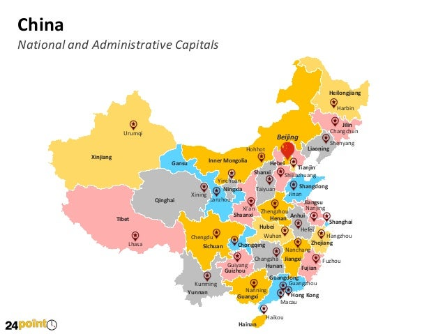 editable ppt maps of china and taiwan