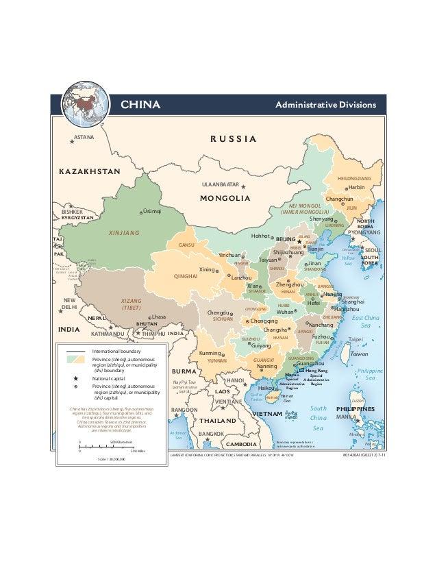 CHINA                                                                                      Administrative Divisions       ...