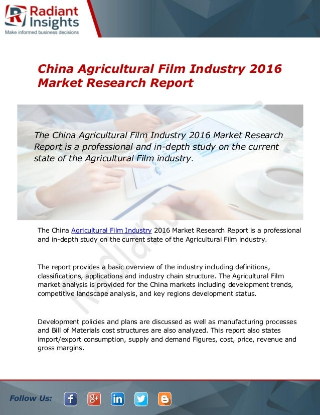 An analysis of the influence of china on the agricultural market