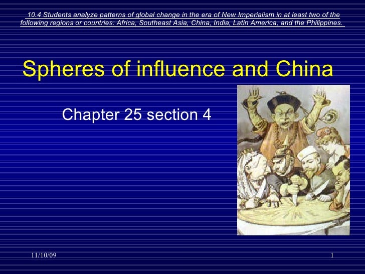 Spheres of influence and China Chapter 25 section 4