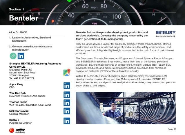 Below are all BENTELER Automotive locations in China. Click here for a list of all global Benteler locations. BENTELER Aut...
