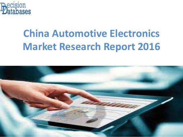 China Automotive Electronics Market Research Report 2016