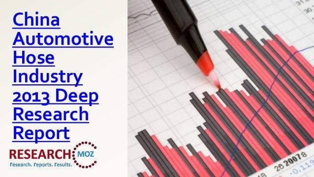ChinaAutomotiveHoseIndustry2013 DeepResearchReport