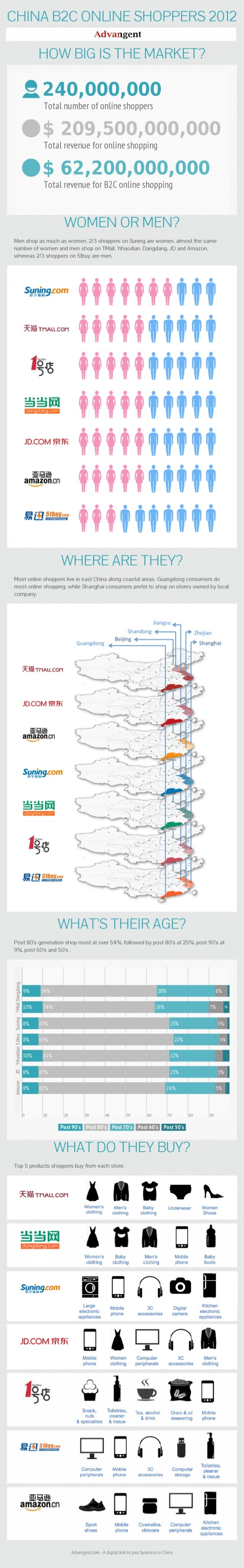 China b2 c online shoppers 2012 new