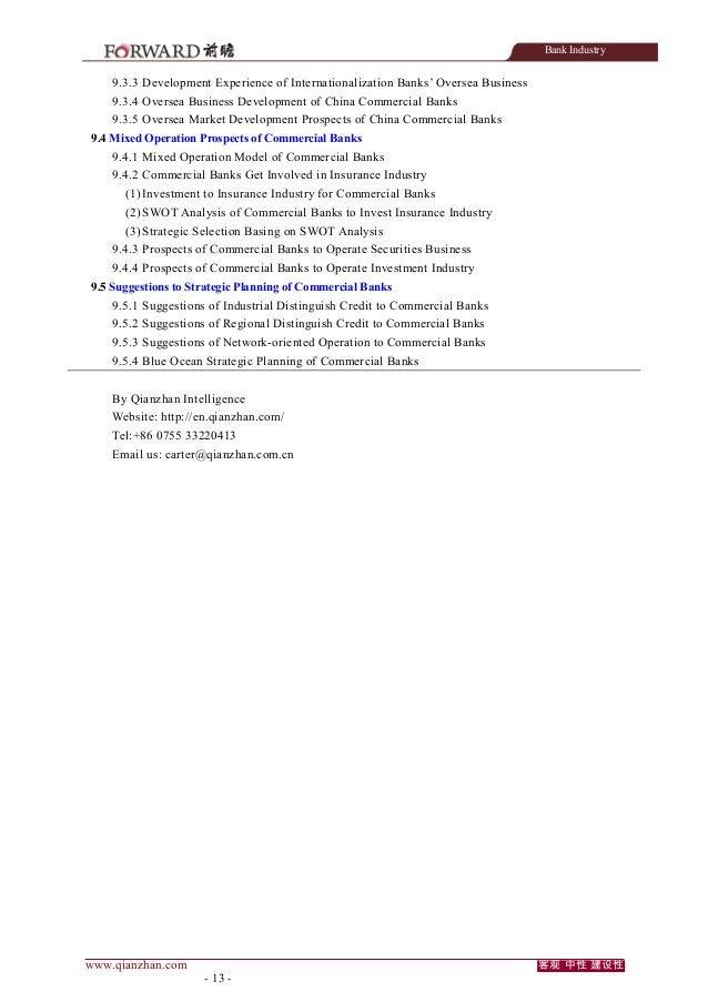 Bank Industry  9.3.3 Development Experience of Internationalization Banks' Oversea Business 9.3.4 Oversea Business Develop...