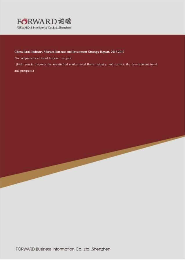 行业  紧固件制造  2011 版  China Bank Industry Market Forecast and Investment Strategy Report, 2013-2017 No comprehensive trend fo...