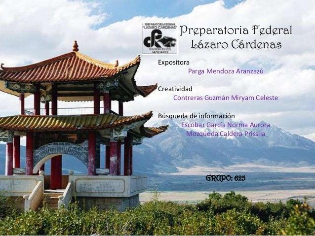 Preparatoria Federal        Lázaro CárdenasExpositora         Parga Mendoza AranzazúCreatividad     Contreras Guzmán Mirya...