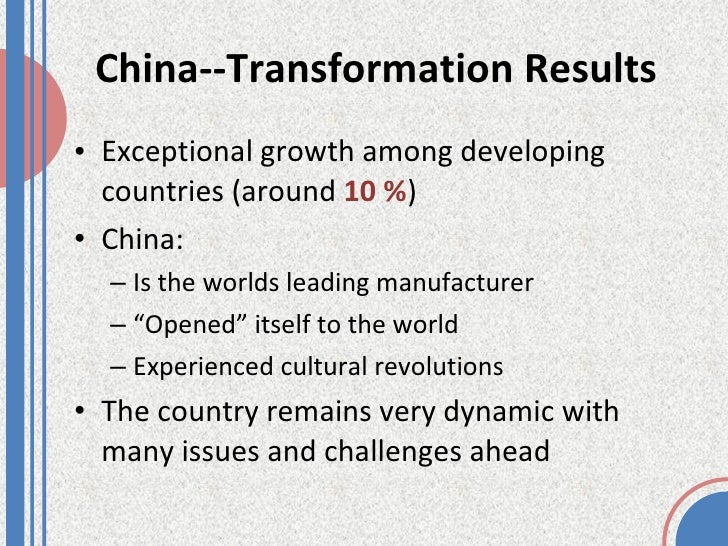 china business environment essay Framework for analyzing the international business environment  food and  water from china proper, the british colony would not have survived along.