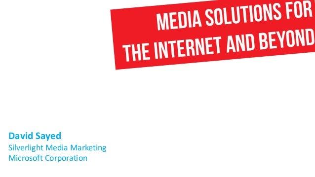 David Sayed Silverlight Media Marketing Microsoft Corporation