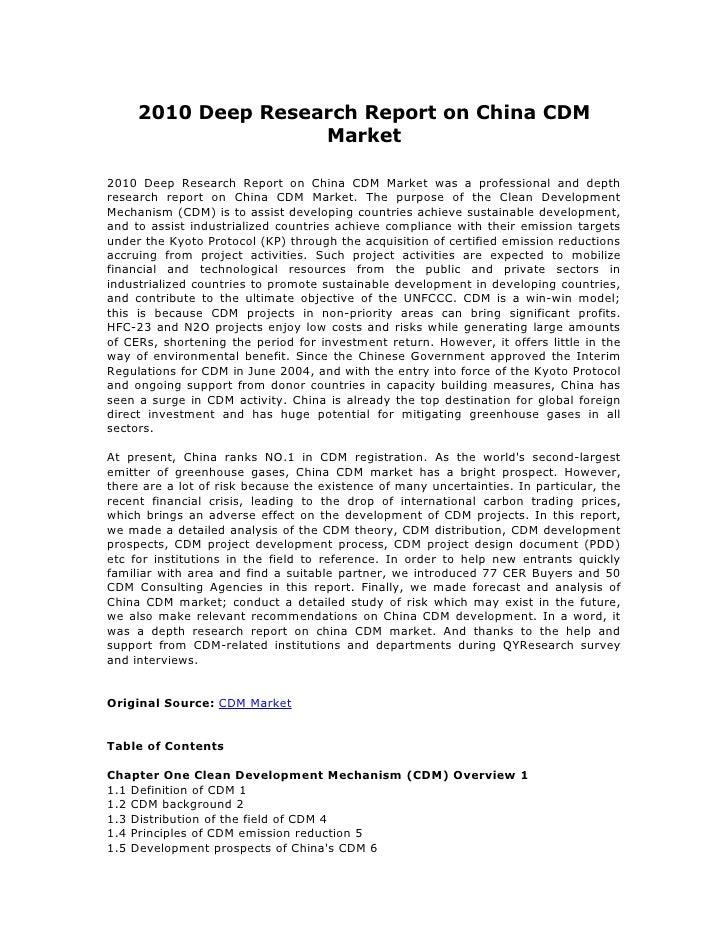 China cdm market