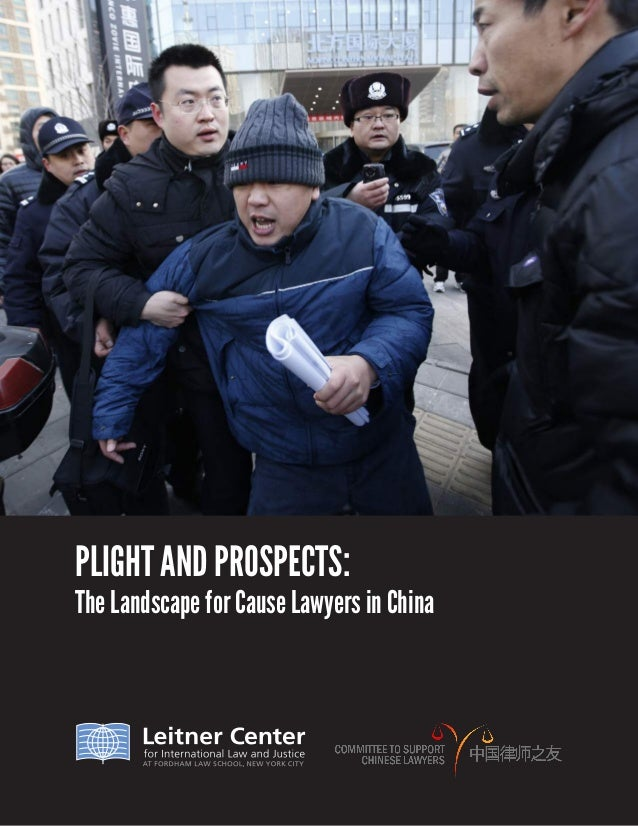 PLIGHT AND PROSPECTS: The Landscape for Cause Lawyers in China