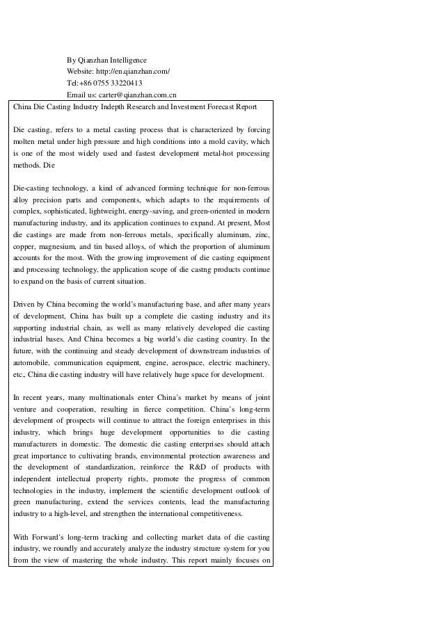 By Qianzhan Intelligence Website: http://en.qianzhan.com/ Tel:+86 0755 33220413 Email us: carter@qianzhan.com.cn China Die...