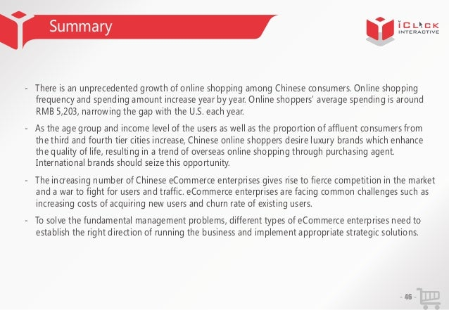 Summary  - There is an unprecedented growth of online shopping among Chinese consumers. Online shopping frequency and spen...
