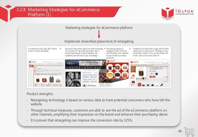 3.2.8 Marketing Strategies for eCommerce Platform (1) Marketing strategies for eCommerce platform  Implement diversified p...