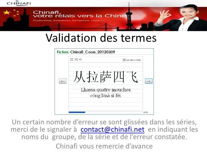 Validation des termesUn certain nombre d'erreur se sont glissées dans les séries,merci de le signaler à contact@chinafi.ne...