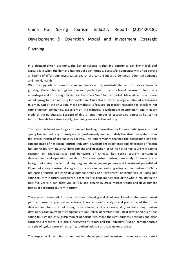 China Hot Spring Tourism Industry Report (2014-2018), Development & Operation Model and Investment Strategic Planning In a...