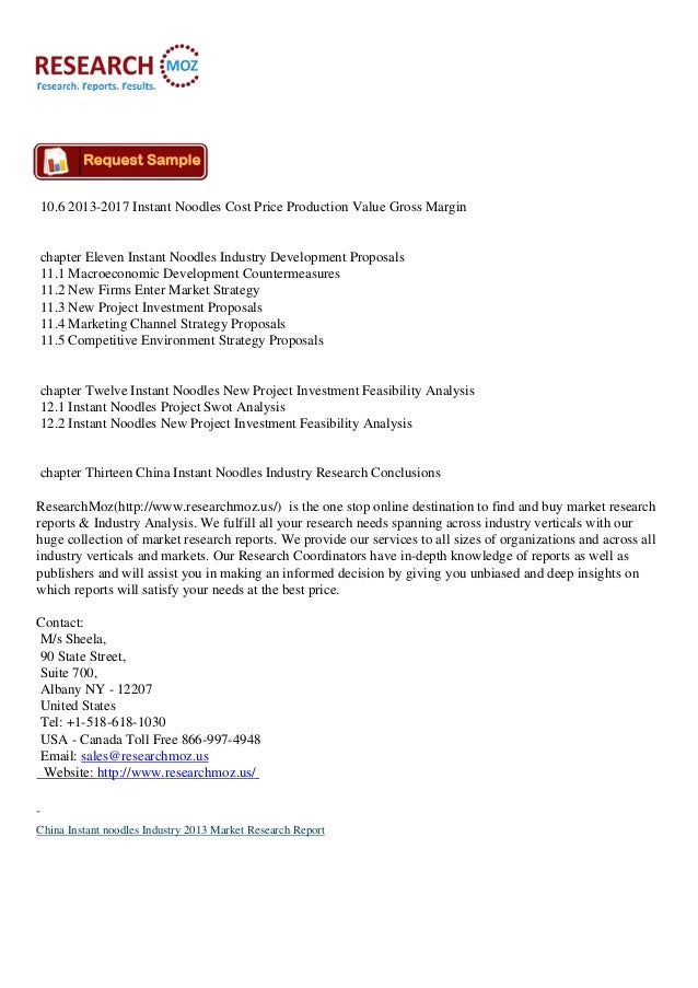 Instant Noodles: Market Research Report