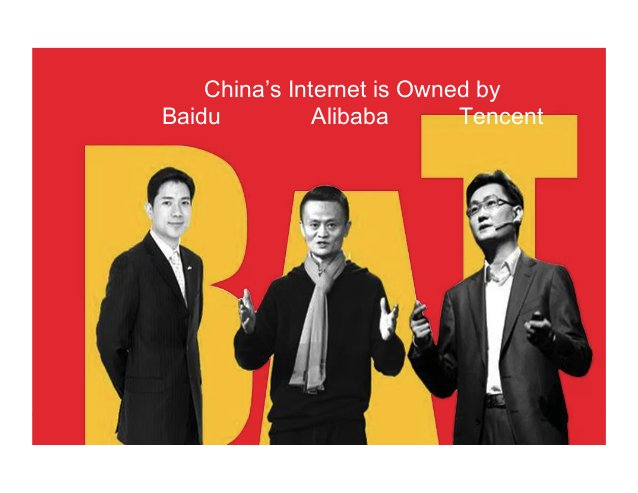 China's Internet is Owned by Baidu Alibaba Tencent