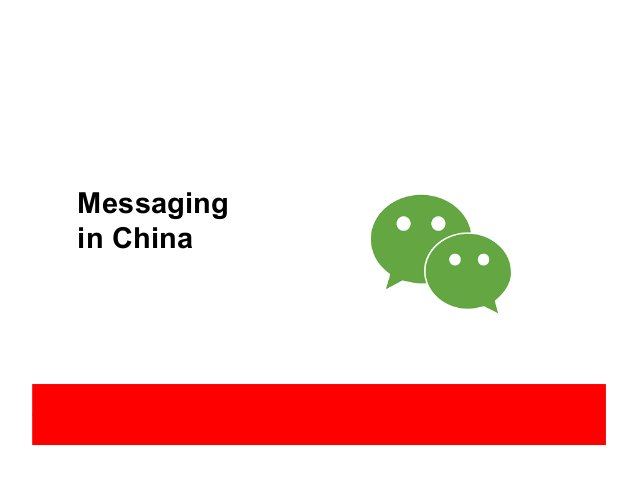 Messaging in China