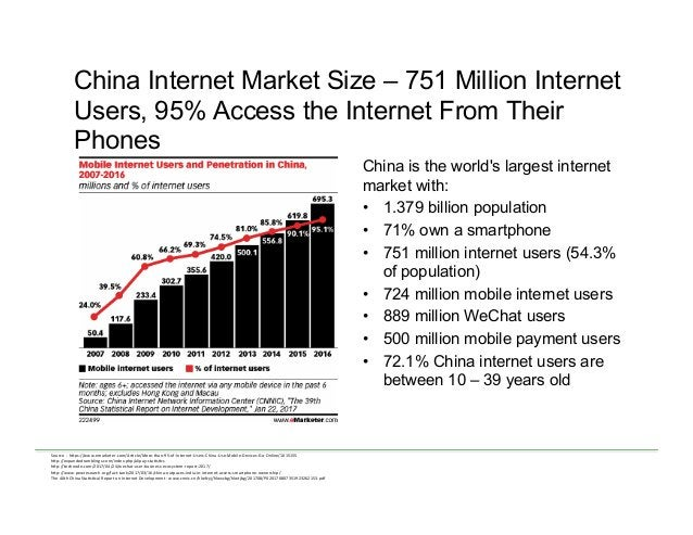 China Internet Market Size – 751 Million Internet Users, 95% Access the Internet From Their Phones China is the world's la...