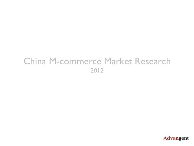 China M-commerce Market Research2012