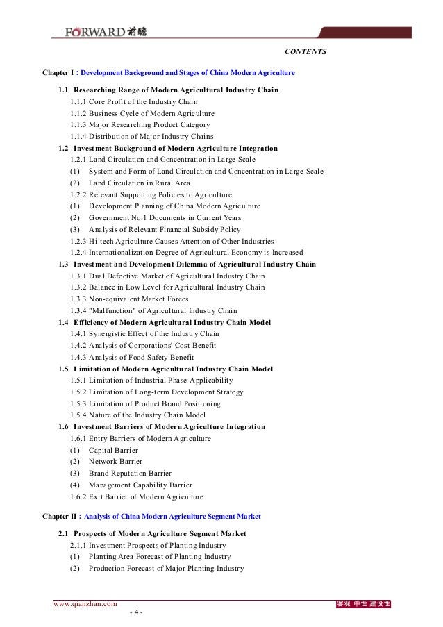 CONTENTS Chapter I:Development Background and Stages of China Modern Agriculture 1.1 Researching Range of Modern Agricultu...