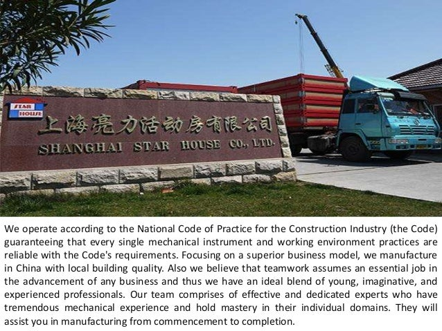 We operate according to the National Code of Practice for the Construction Industry (the Code) guaranteeing that every sin...